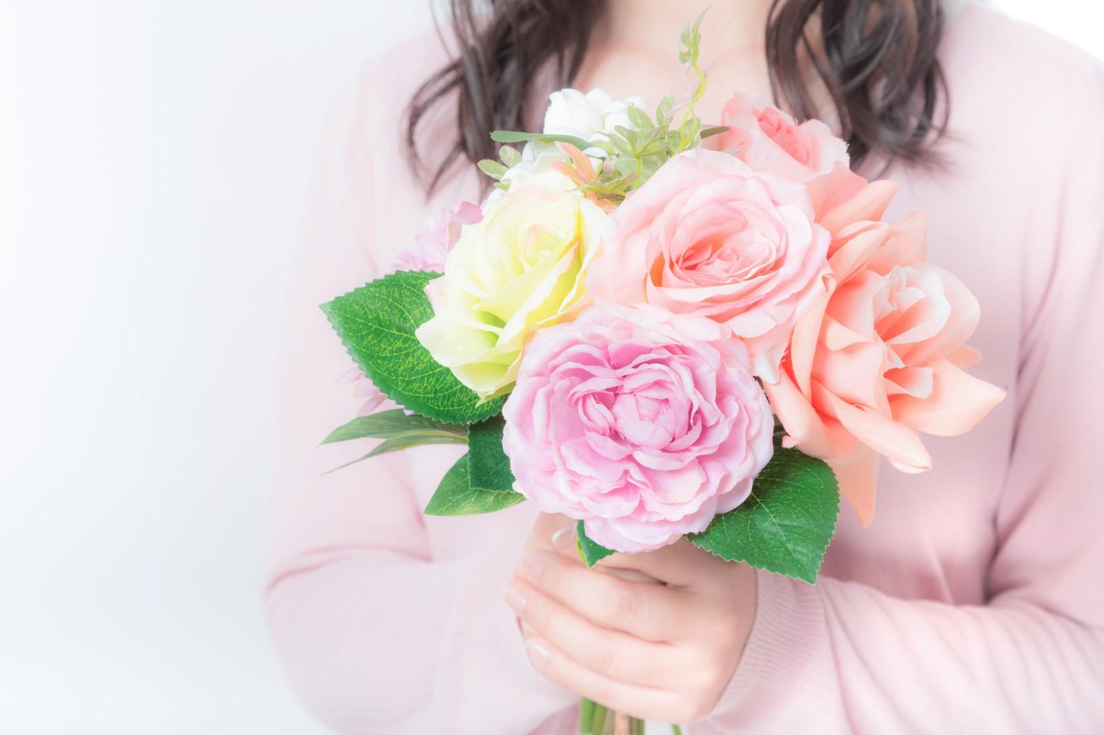 花を持たす